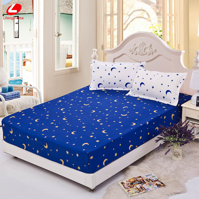 Home textile bed sheet sheet flower mattress cover printing bed sheet elastic rubber bedclothes 180*200cm summer bedspread band 11