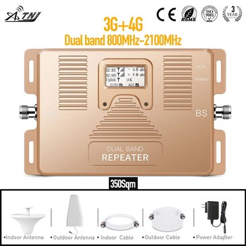 3G 4G Dual Band 800/2100MHz Mobile Signal Booster Phone Signal Repeater for home,office use with large area Signal Amplifier