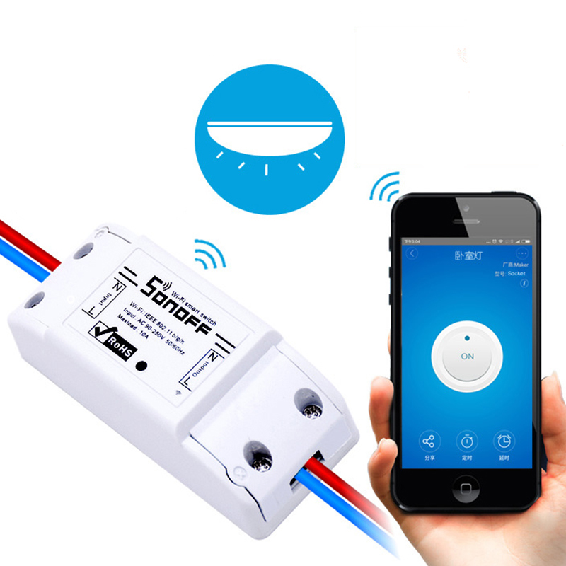 Sonoff Smart Breaker APP Wireless Remote Control Wifi Light Switch Smart Home Device Work with Alexa Google Assistant