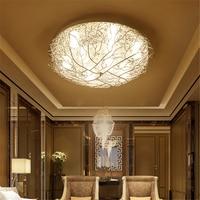 Nordic Crystal Ceiling Lamps Led Bedroom Living Room Study Restaurant Ceiling Light Branch Home Lighting Fixture Luminaire Avize