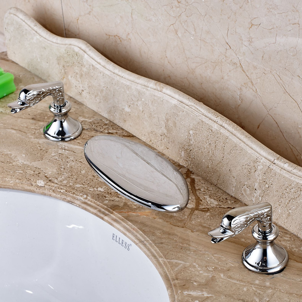 все цены на Creative Deaign Waterfall Bathroom Basin Faucet Chrome Brass Tub Vanity Sink Mixer онлайн