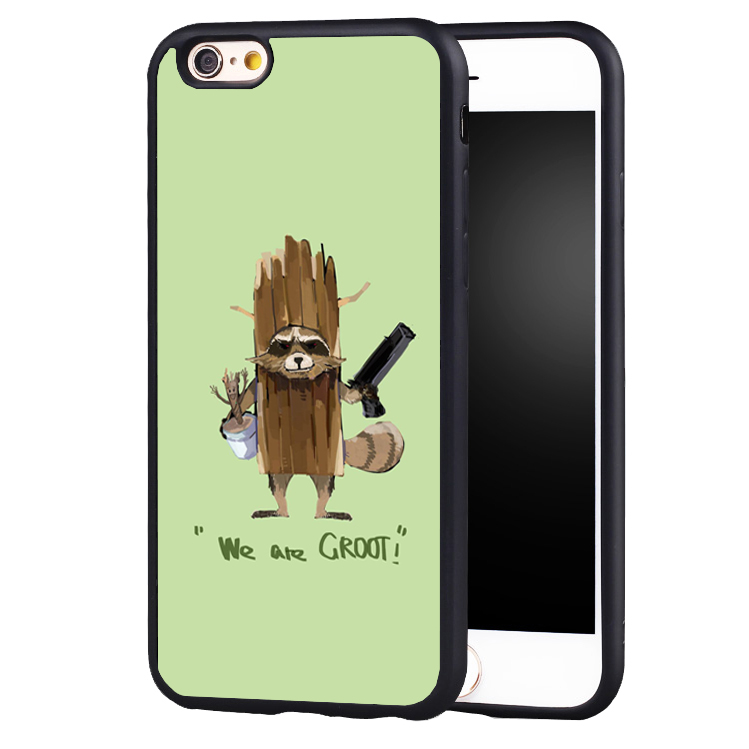 Guardians of Galaxys rocket groot Marvel phone case cover for iphone 7 7plus 6 6splus 5 5s 5c SE