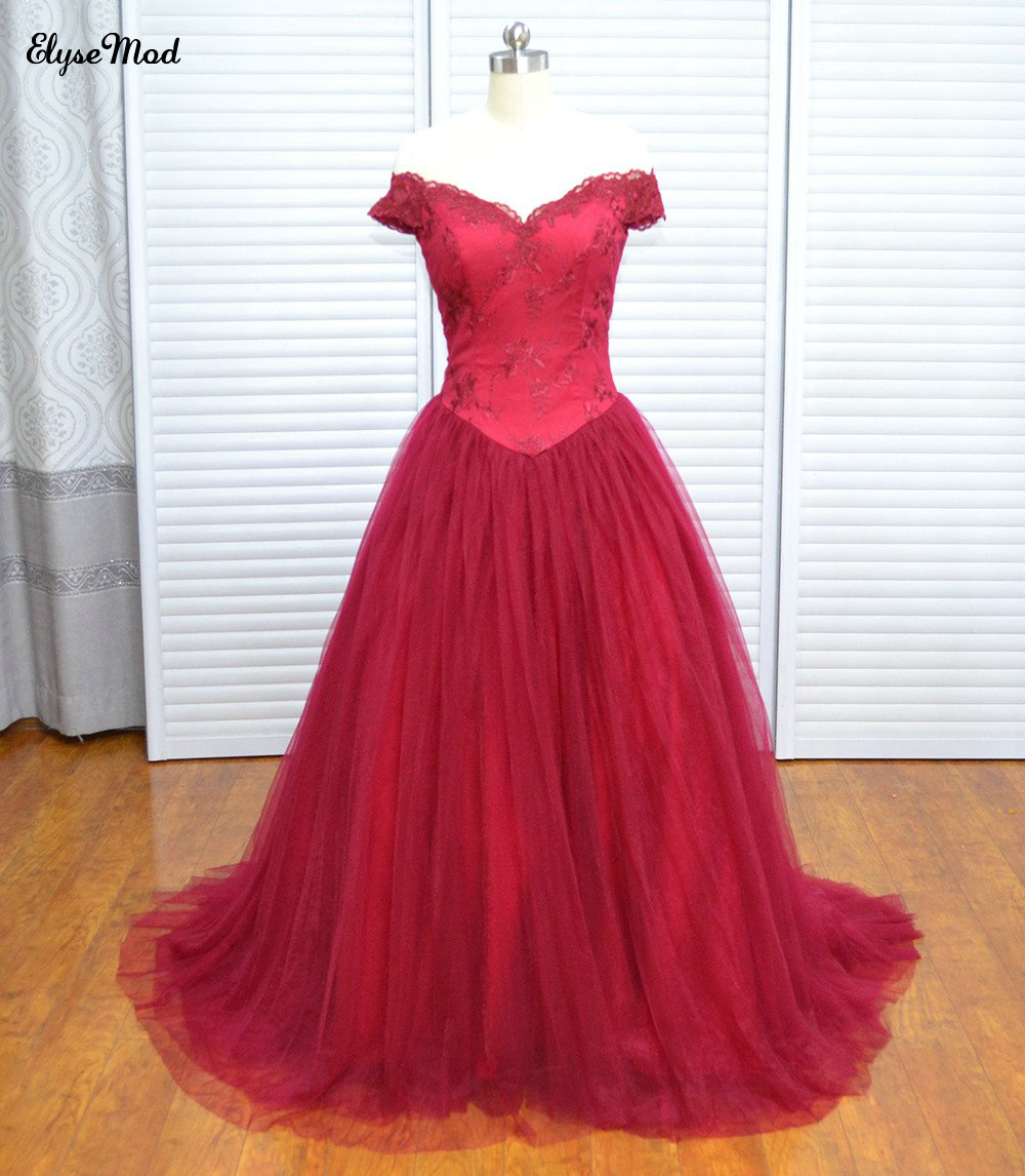 Vraie Photo Vinoprom bordeaux Cap manches Tulle Zipper Up robes de bal robe 2018 Quinceanera robe