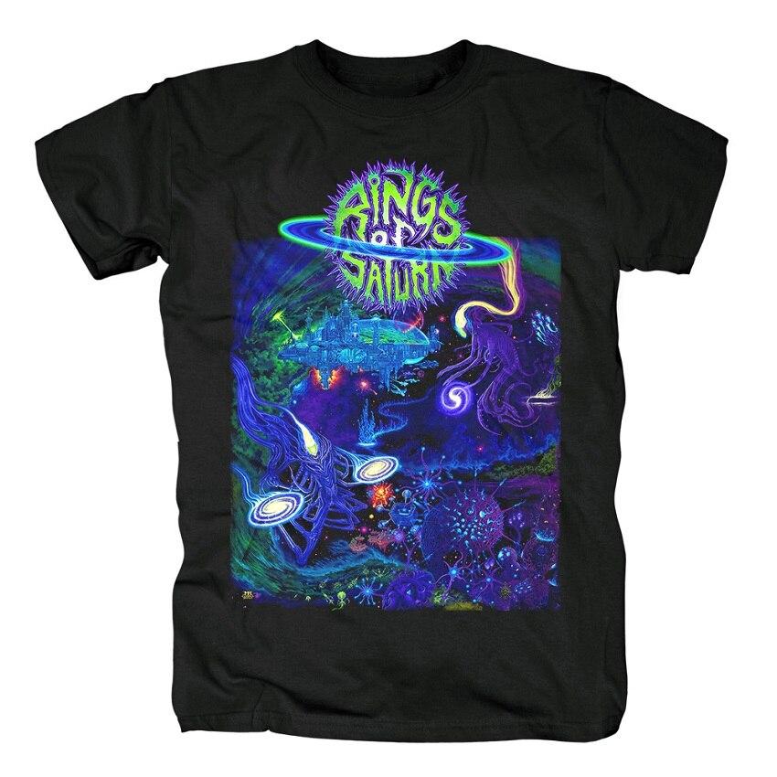 15 дизайнерских колец Сатурн инопланетянин группа рок брендовая рубашка Hardrock heavy thrash Metal deathcore хлопковая Футболка camiseta уличная одежда - Цвет: 3