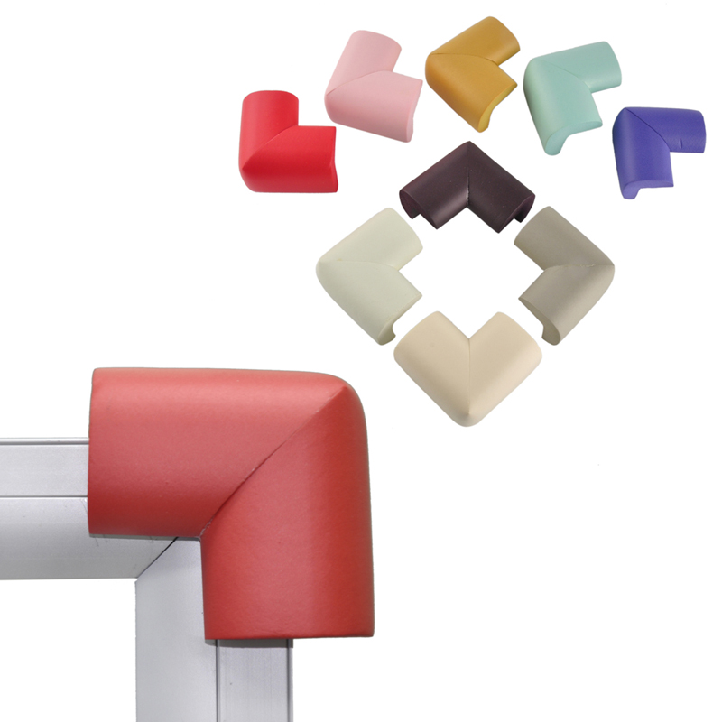 10pcs/set Colorful Soft Baby Safe Corner Protector Kids Table Desk Angle Corner Guards Baby Care Children Safety Edge Right