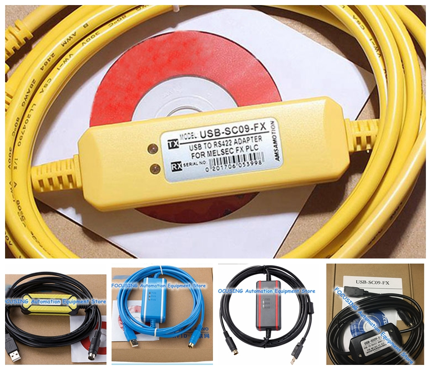 NEW USB-SC09-FX PLC Programming Cable For Compatible FX-USB-AW Immunity FX2N/FX1N/FX0/FX0N/FX0S/FX1S/FX3U