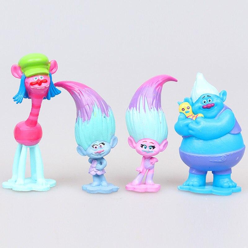 12 Teile/satz Film Trolle 2 zoll Höhe Figuren Spielzeug Kuchen ...