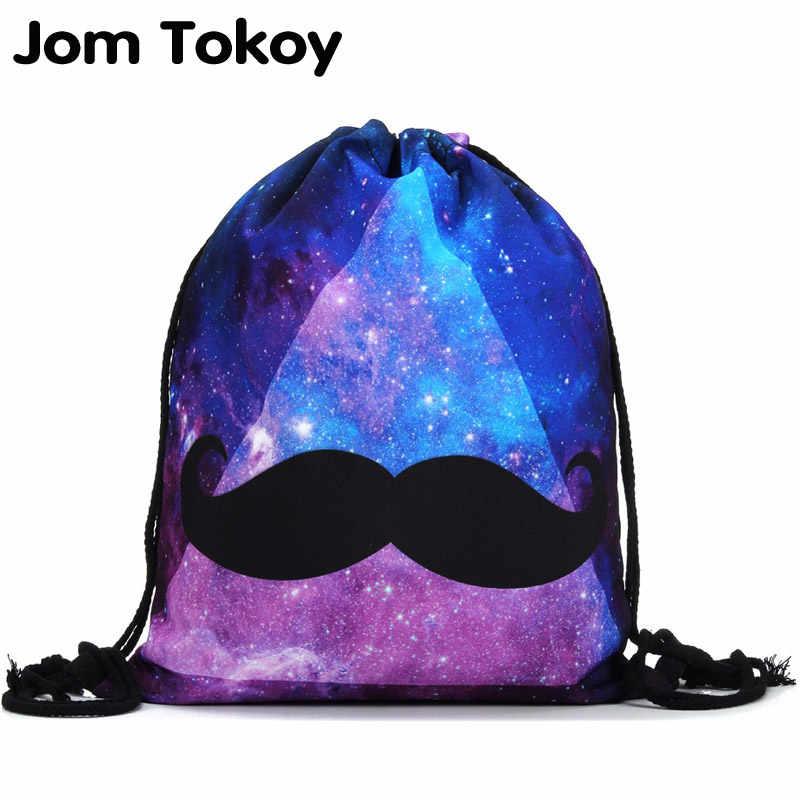 2018 new fashion drawstring Backpack 3D printing travel softback women drawstring  bag