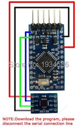 US $37 62 |10X IIC Serial Interface MCU MPU 6050 6DOF Tilt compensated  Angle Module MPU 6050 Tilt Angle Sensor YAW ROLL PITCH For Arduino-in