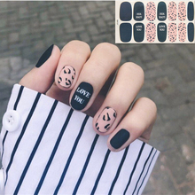 14tips/sheet Winter Design Sweater Nail Stickers Colorful Full Tips Wraps for DIY Adhesive Decals Women Art Decor Wholesale