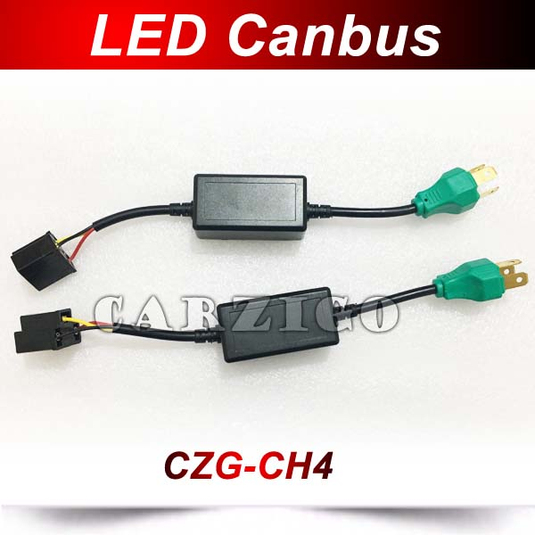 Universal 2pcs H4 LED Headlight Canbus Anti flicker Canbus Wiring