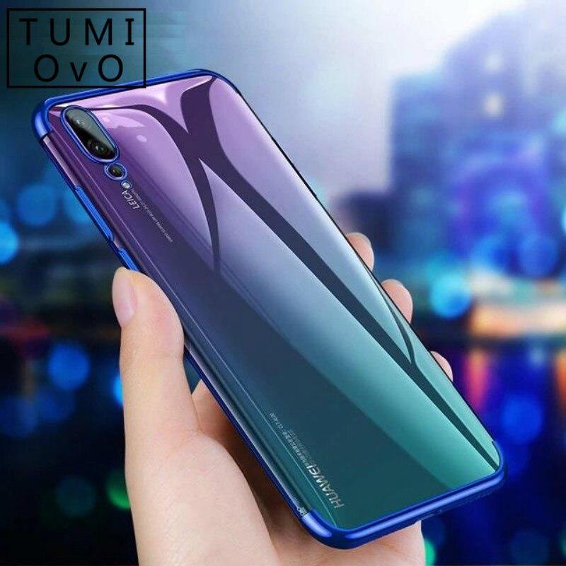 Chapado en Anti-choque suave de silicona caso para Huawei Nova 2i 2S 3 3i 3e P10 más P20 Pro P9 P8 Lite 2017 Y5 Y6 Y7 primer 2018 Y9 2019