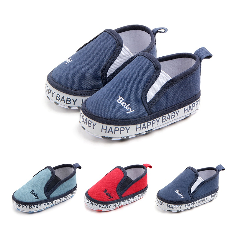 Infant Toddler Soft Bottom Anti-slip First Walkers Canvas Sneaker Sport Shoes For Boys Girls Newborn Shoes