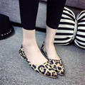 2017 Sexy leopard flat shoes female shallow mouth for women's shoes in Europe and the pointed flat documentary shoes