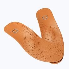 Латекс кожа Ортопедические Стельки Уход За Ногами Антибактериальные Активированный уголь Ортопедических Arch Поддержка Подъем Воловьей Плоскостопие Обуви Pad