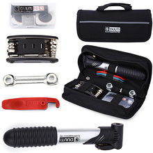 Mini Bike Pump & Tire Puncture Repair Kit Multi Function Tools for Bicycle Bag Cycling Kits D30