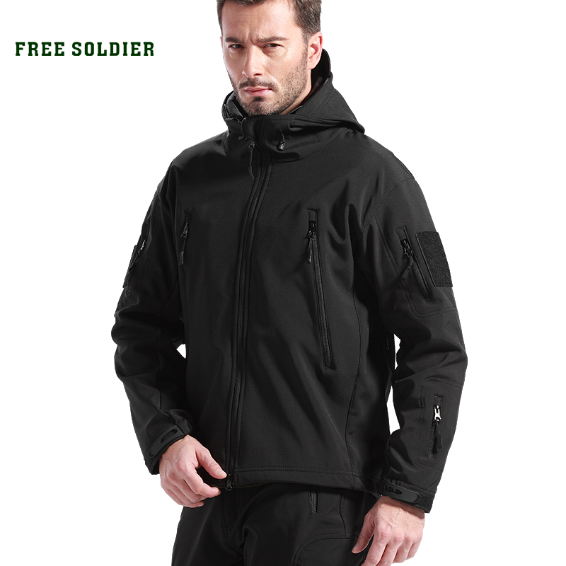 FREE SOLDIER Outdoor Sport Tactical Military Jacket Men's Clothing For Camping Hiking Softshell Windproof Warm Coat Hunt Clothes original discovery expedition daea91115 men softshell jacket