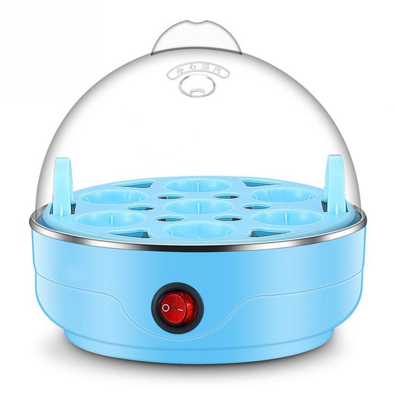 220 v 50 hz Multifunktionale Elektrische 7 Ei Kessel Herd Mini Dampfer Wilderer Küche Kochen Werkzeug UNS Stecker 350 watt licht Blau DH72