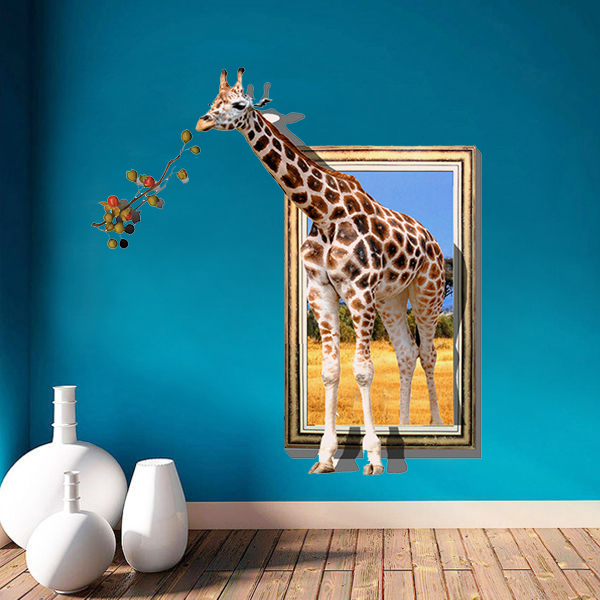 Cartoon Giraffe Modern Wall Stickers Home Decor Living Room Mural Art Decal Kids Rooms Decoration Removable Vinyl Wallpaper In From