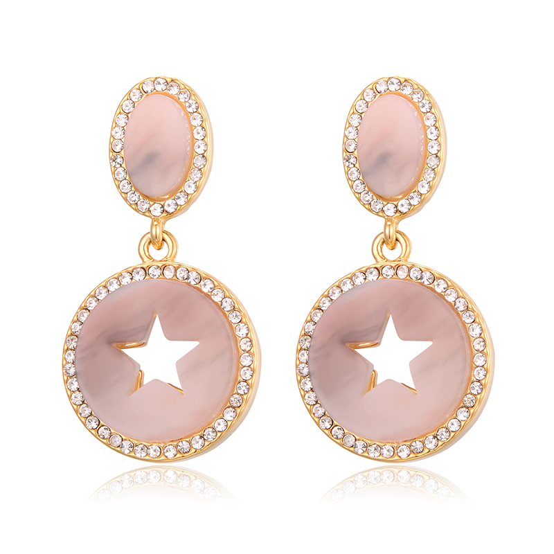 Hollow out Star Pendant Earring Drop Earrings For Women Fashion Jewelry Zircon Statement Earring pendientes mujer moda 2020