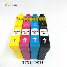 T0731 - T0734 Ink Cartridge For Epson stylus tx210 cx4900 tx410 C90 CX3900 CX3905 CX4905 CX5500 CX5600 CX5900 CX7310 Printer