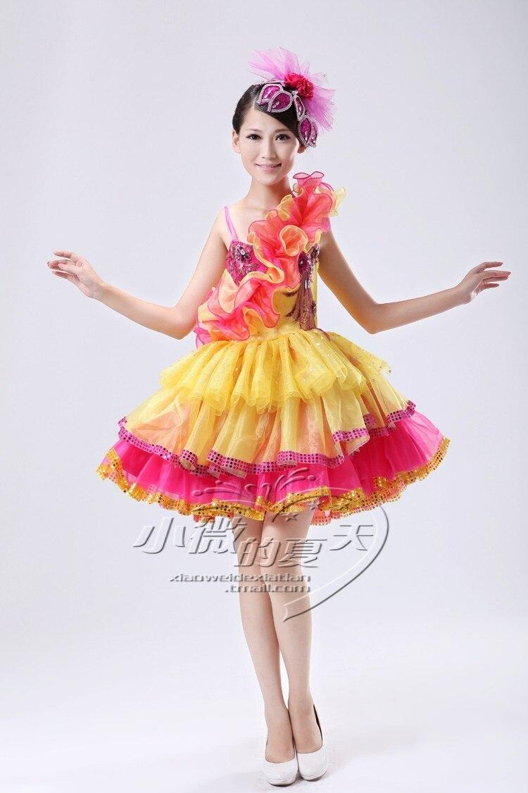 28c1d9dd5 Modern dance costume stage clothes short design national costume ...