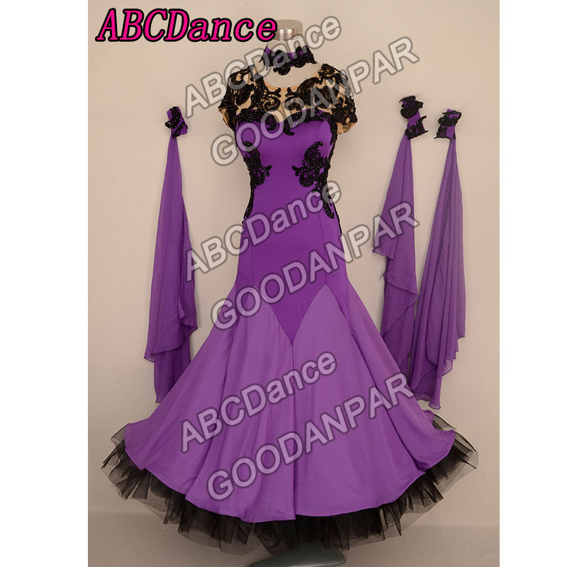 New Ballroom dance dress Short sleeve Backless waltz / tango / standard /Foxtrot dance dresses women professional dance costumes