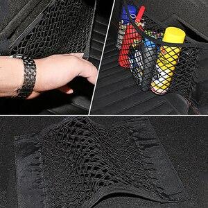 Image 5 - Sac de rangement, coffre en filet pour voiture, organiseur en filet de rangement universel de marchandises, en maille, accessoires automobiles, sac de poche pour voyage en réseau