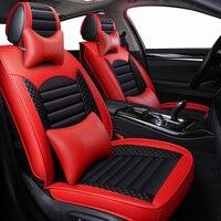 New Leather Cartoon Universal car seat covers for nissan teana j31 j32 terrano 2 tiida wingroad X TRAIL t30 t31 t32 xtrail 2018
