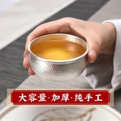 S999 sterling silver tea cup large capacity Kung Fu tea cup tasting tea cup tea set drinking utensils Japanese style