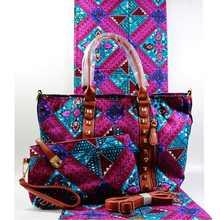 Модная африканская дизайнерская женская сумочка из вощеной хлопчатобумажной