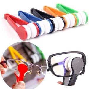 F عشوائي نظارات مخصصة الراحة نظافة سوبر غرامة الألياف سوبر كلين الطاقة المحمولة نظارات فرك مع حلقة رئيسية نظافة