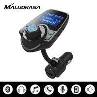 MALUOKASA T10 Wireless Car Bluetooth FM Transmitter Radio Adapter Handsfree Set MP3 Audio Player USB Car
