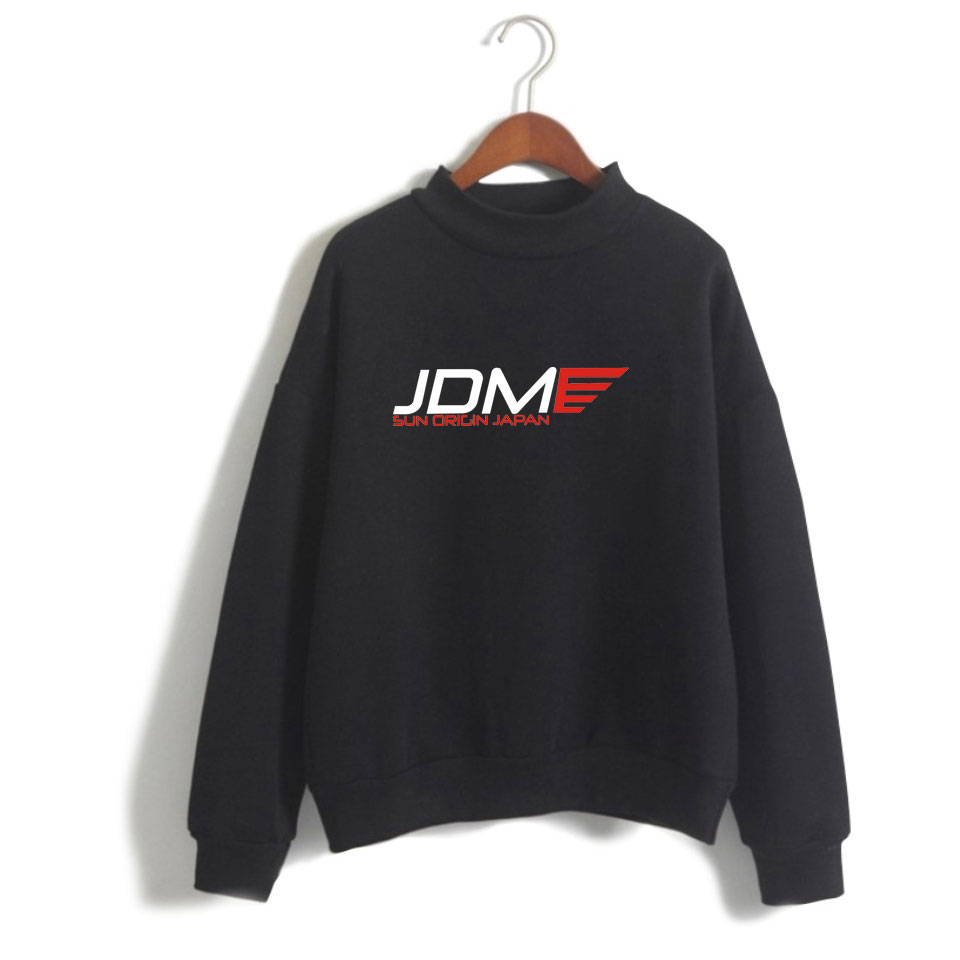JDM Hoodies Casual Print Women/men Pullovers Sweatshirt Autumn Streetwear Clothing Turtle Neck Long Sleeved Hoodies XXS To 4XL