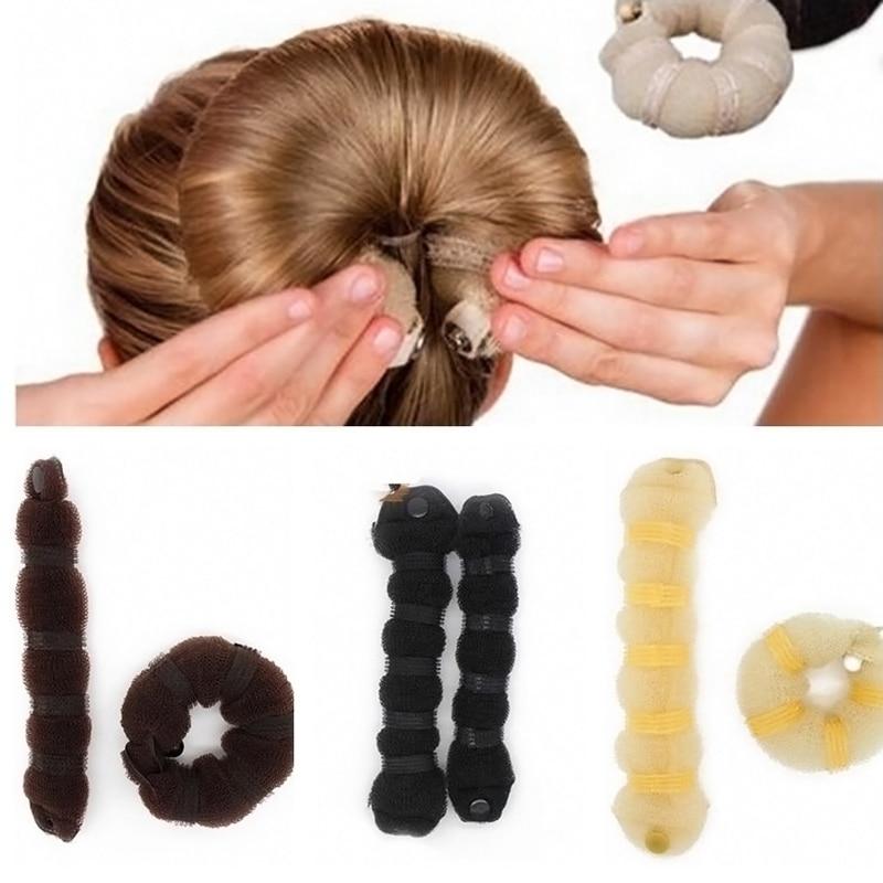 how to use a hair bun donut - photo #41