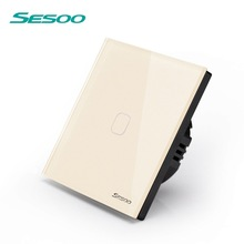 SESOO Touch Switch 1 Gang 1 Way,Wall Light Touch Screen Switch,Crystal Glass Switch Panel,Can not be remotely controlled