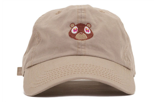 2bafd5fae4 Black Pink Tan Kanye West Graduation College Dropout Bear Dad Hat Cap real  friends Baseball Cap Hip Hop drakes Snapback hats