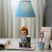High Quality Decorative Girl Romantic Table Lamp E14 110V-220V Children Room Switch Button Table Light Study Led Desk Lamp(China)