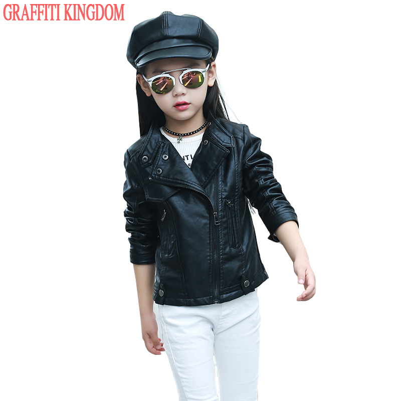 girls leather jacket Picture - More Detailed Picture about Girls ...
