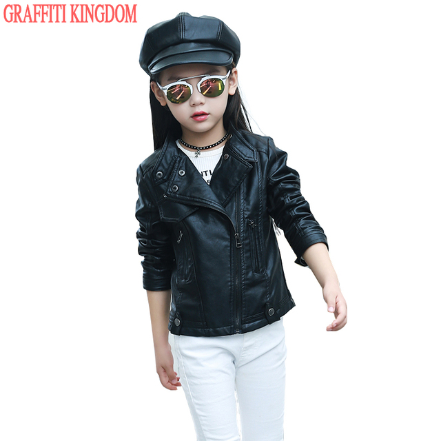 Girls leather jacket New Arrival Spring 2017 kids coats and ...
