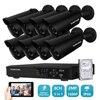 8CH Hybrid AHD 2 0MP CCTV System 8pcs 1920 1080P CCTV Camera 2 0megapixel Camera Surveillance
