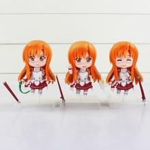 3Pcs Sword Art Online Asuna Action Figures Collectible