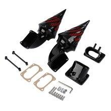Balck Spike Air Cleaner Intake Filter Kit For Suzuki Boulevard M109 M109R Boss black motorcycle spike air cleaner kits intake filter fit for honda shadow 600 vlx600 1999 2012 vlx 600 shadow600 2000 2001 2002
