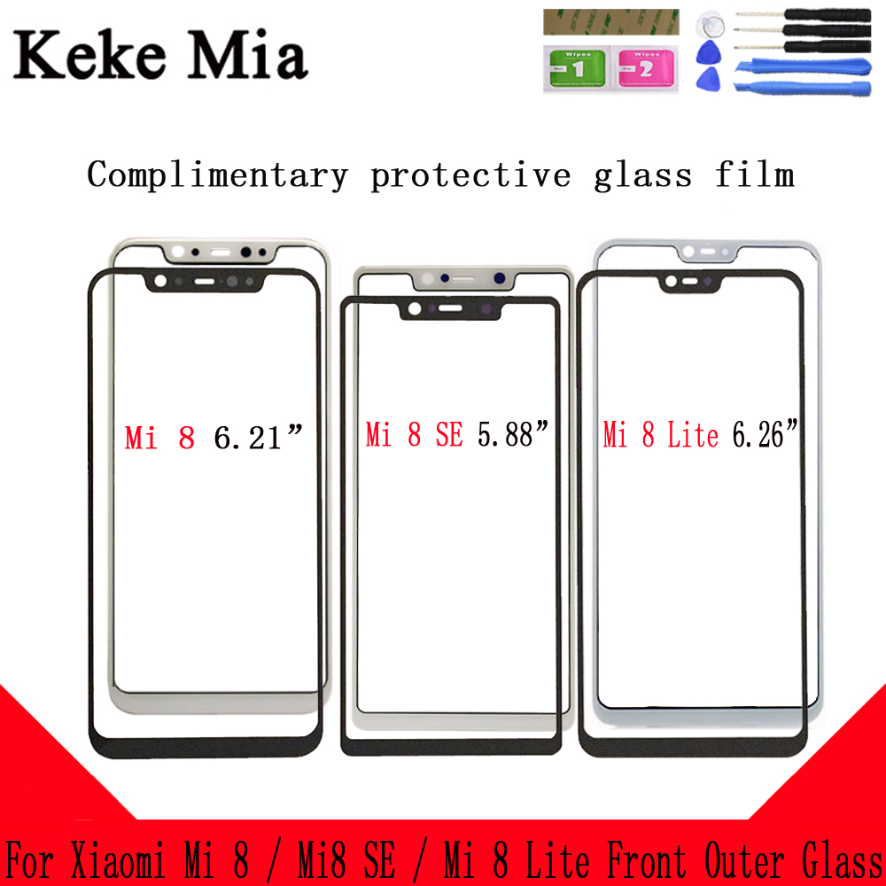 10PCS Mobile Front Outer Glass For Xiaomi MI 8 MI8 SE Lite Panel Lens Touch Screen NO LCD Digitizer