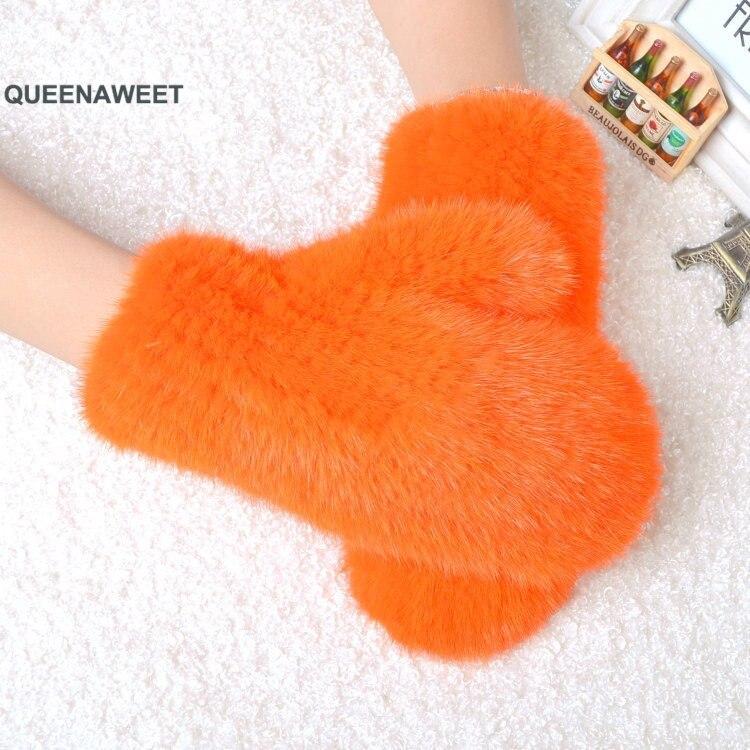 006 2019 nouveau chaud hiver femmes réel vison fourrure gants belle dames véritable vison fourrure gants bon élastique femmes hiver tricoté