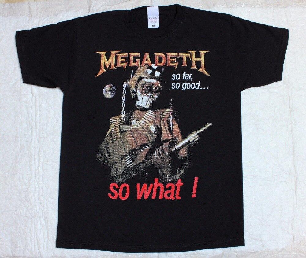 Megadeth So Far So Good So What 88 Thrash Metallica Mustaine New Black T-Shirt T-Shirt Men Clothing