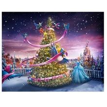 5DDIY Diamond Painting Kit Square Diamond drill Cross Stitch Kit Diamond Embroidery Mosaic Cartoon girl and Christmas tree