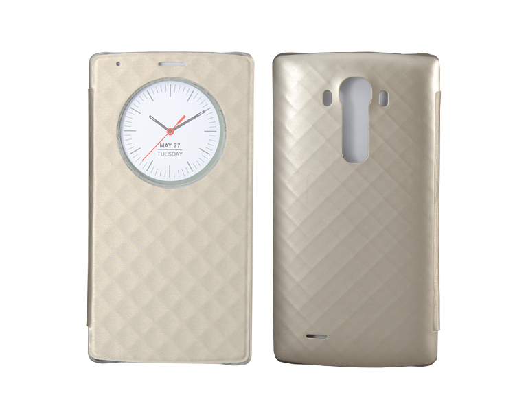Official Flip Cover for LG G4 H815 F500 Smart View Quick Circle Case With Wireless Charging + NFC Battery Back Case