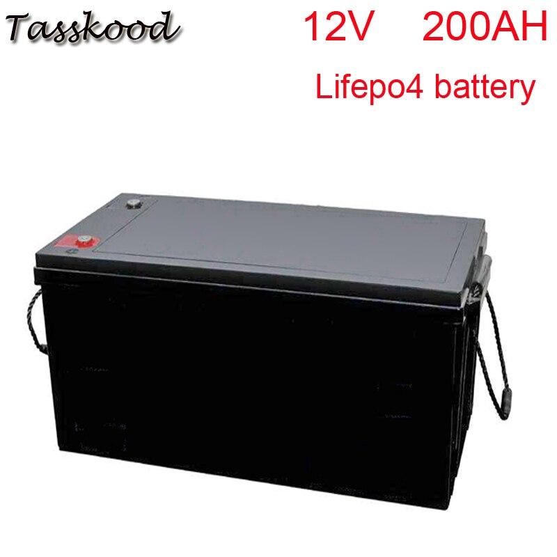 Pas de taxes Lifepo4 lithium 12v 200ah lifepo4 batterie pour système solaire/véhicules électrifiés/scooter électrique/autoradio/chariot de golf