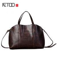 AETOO 2017 New Retro Wind Men S Leather Handbag British Limelight Cow Leather Men Bag